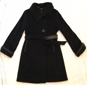 Dana Buchman angora wool swing coat